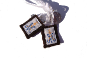 Small A and M white scapular